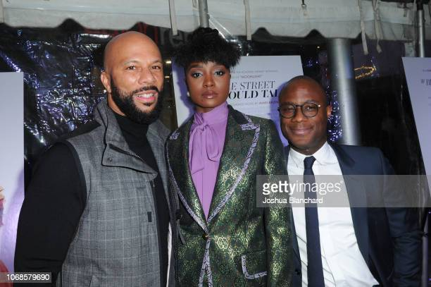 Common KiKi Layne and Barry Jenkins arrive at Los Angeles Special Screening of Annapurna's If Beale Street Could Talk on December 4 2018 in Los...