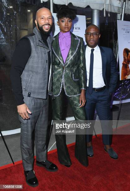 Common KiKi Layne and Barry Jenkins arrive at the Los Angeles Special Screening Of If Beale Street Could Talk at ArcLight Hollywood on December 4...