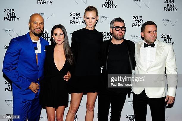 Common Micaela Erlanger Karlie Kloss Brandon Maxwell and Michael Carl attend the 2016 Whitney Art Party at The Whitney Museum of American Art on...