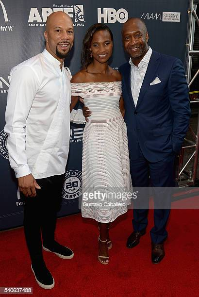 Common Nicole Friday and Jeff Friday attend American Black Film Festival Opening Night Film Central Intelligence on June 15 2016 in Miami Florida