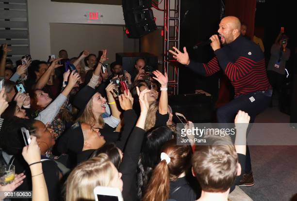 Common performs at CNN and The Hollywood Reporter's celebration of 5 Years of CNN Films at OP Rockwell on January 20 2018 in Park City Utah