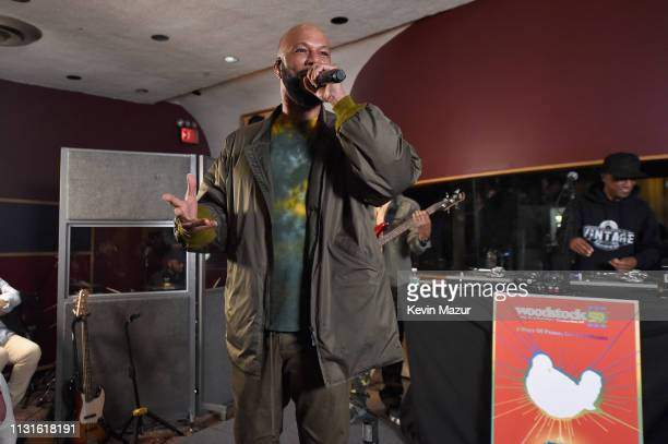 Common performs on stage at the announcement of the Woodstock 50 Festival LineUp at Electric Lady Studio on March 19 2019 in New York City