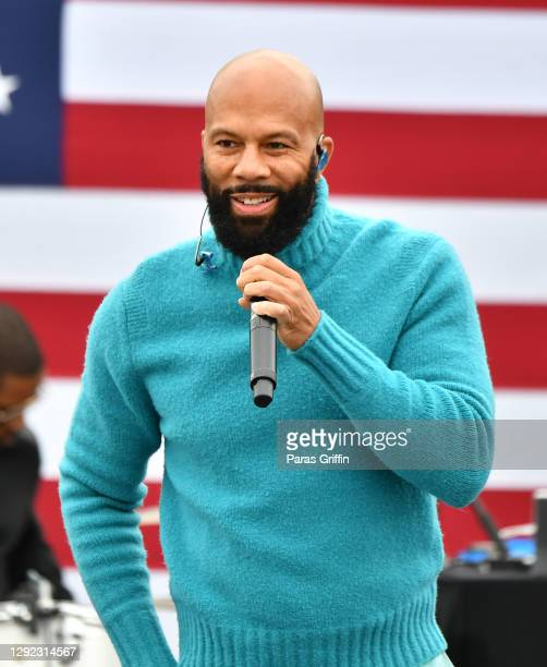 Common performs onstage during Souls To The Polls Drive-In Rally for Rev. Raphael Warnock at Riverside EpiCenter on December 20, 2020 in Austell,...