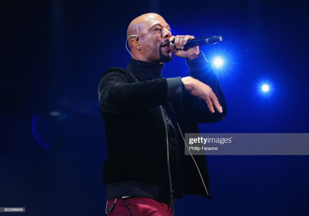 Common performs onstage during The Art Of Elysium's 11th Annual Celebration with John Legend at Barker Hangar on January 6, 2018 in Santa Monica, California.