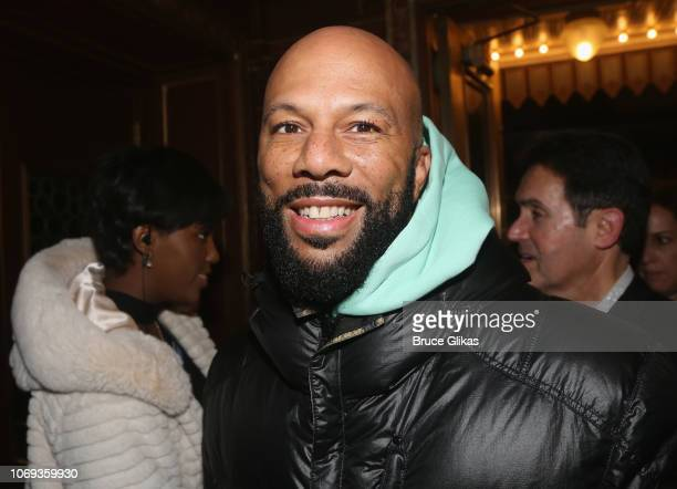 Common poses at the opening night of the play Network on Broadway at The Belasco Theatre on December 6 2018 in New York City