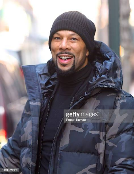 Common seen out and about in Manhattan on January 9 2018 in New York City