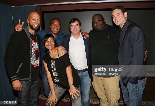 Common Sheldon Candis Tom Fore Sean Banks and Jason Berman attend the special Miami Tastemaker Dinner and Screening of Common's new movie LUV...