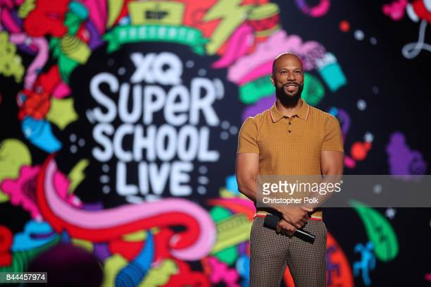 Common speaks onstage during the XQ Super School Live presented by EIF at Barker Hangar on September 8 2017 in Santa California