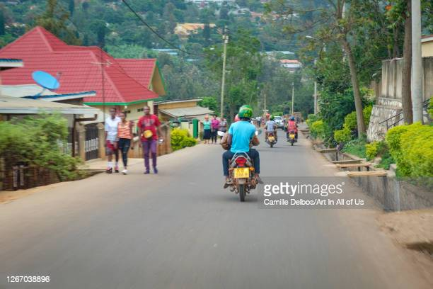 Common view on a road in the capital on Septembre 18, 2018 in Kigali, Municipality of Kigali, Rwanda.