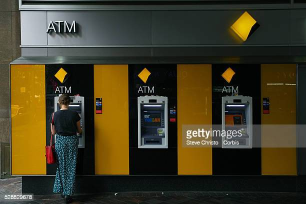 A Commonwealth Bank Automatic Teller Machine at Circular Quay Sydney Australia Thursday 16th January 2014