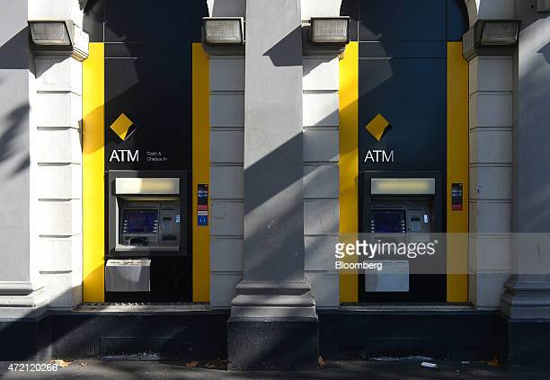 Commonwealth Bank of Australia automated teller machines stand in Melbourne Australia on Friday May 1 2015 Commonwealth Bank is the nation's largest...