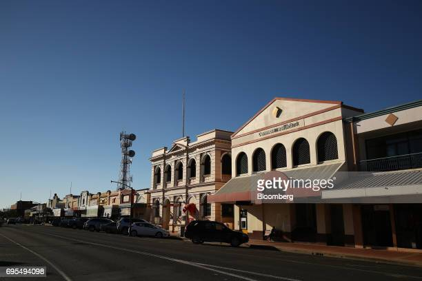 A Commonwealth Bank of Australia branch stands on the main street in Narrabri Australia on Friday May 26 2017 A decade after the shale revolution...