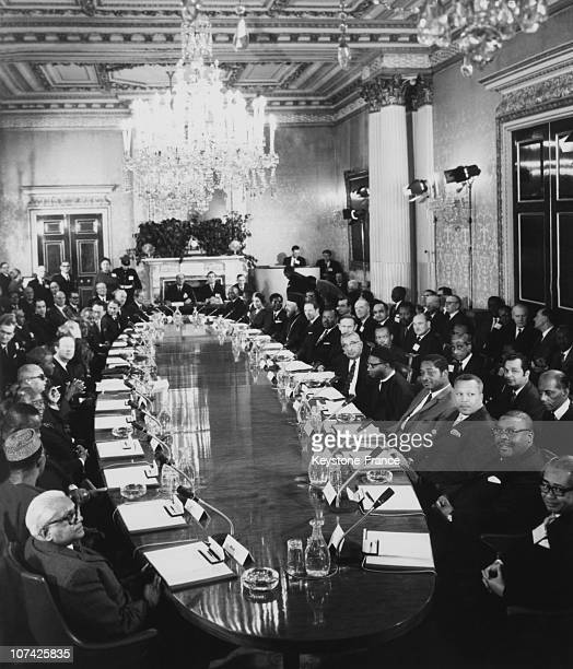 Commonwealth Conference With Harold Wilson At London In England On January 8Th 1969