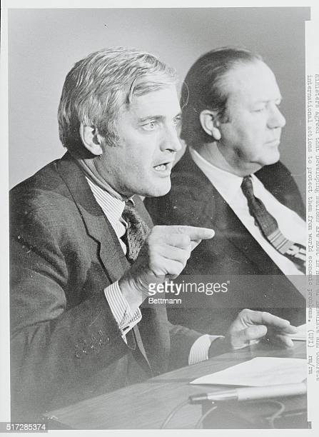 Commonwealth Finance Ministers Conference Ottawa Ontario Canada Canadian Finance Minister John Turner and Commonwealth SecretaryGeneral Arnold Smith...