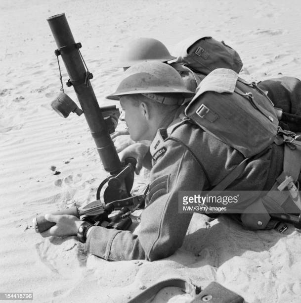 Commonwealth Forces In North Africa 19401943 Rhodesian troops of the 60th King's Royal Rifles training with a 2inch mortar 12 May 1942