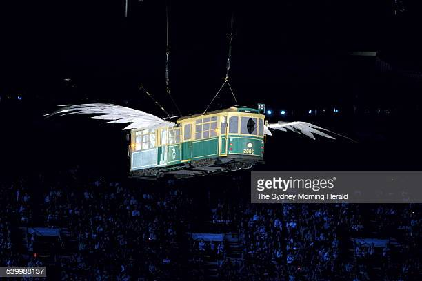 Commonwealth Games 2006 A flying tram at the Opening Ceremony for the 2006 Commonwealth Games at the Melbourne Cricket Ground Picture taken 15 March...