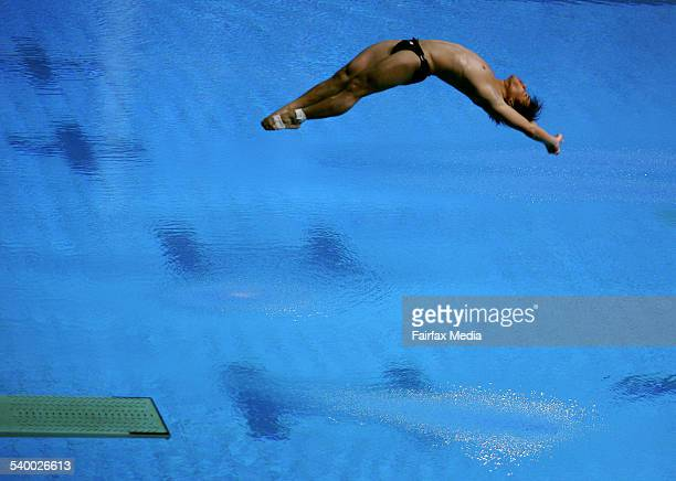 Commonwealth Games 2006. Australia's Safwan Khairul in action during the Men's 3m Springboard diving heats at the Melbourne Commonwealth Games, 23...