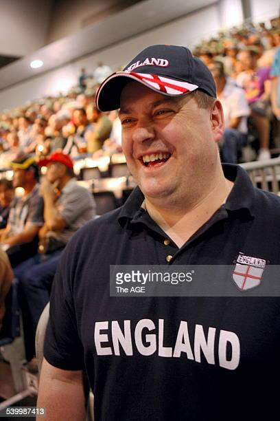 Commonwealth Games 2006. Boxing. Face in the crowd Gavin Clowes 39 of the UK. THE AGE NEWS Picture ANDREW DE LA RUE