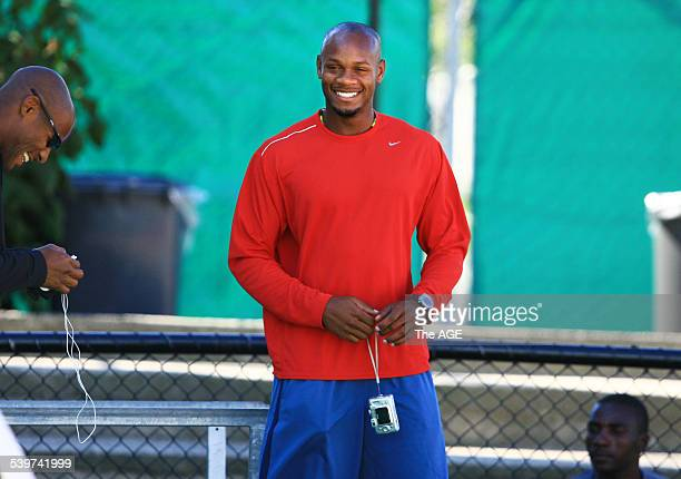 Commonwealth Games 2006 Fastest Man in The World Asafa Powell arrived in Melbourne this morning He was at Olympic Park this afternoon with the rest...