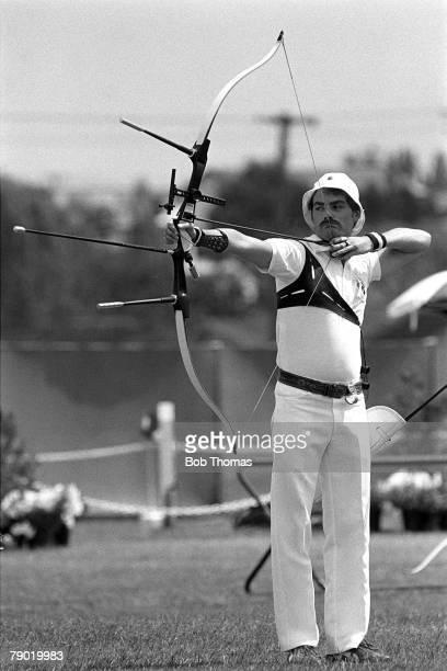 Commonwealth Games Archery Brisbane Australia England's Mark Blenkarne who went on to win the Gold medal