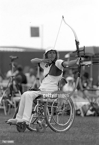 Commonwealth Games Archery Brisbane Australia New Zealand's Neroli Fairhall who went on to win the Gold medal