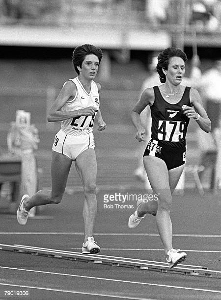 Commonwealth Games Athletics Brisbane Australia Womens 3000 metres Final New Zealand's Annie Audain leads from England's Wendy Smith Audain went on...