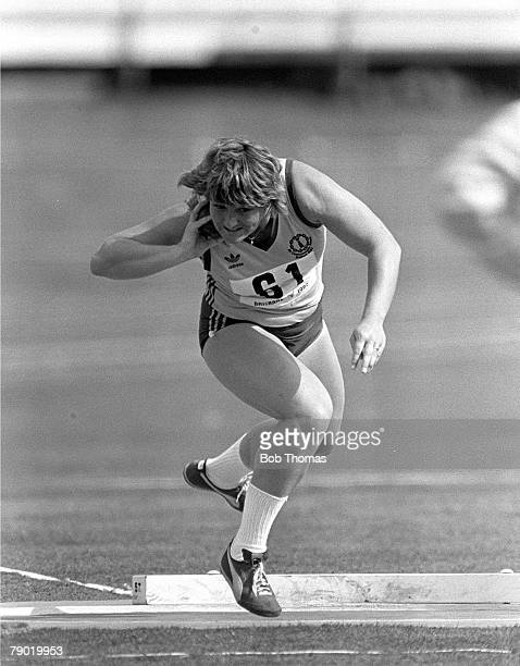 Commonwealth Games Athletics Brisbane Australia Women's Shot Put Australia's Gael Mulhall who went on to win the Silver medal