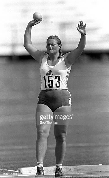 Commonwealth Games Athletics Brisbane Australia Women's Shot Put Canada's Rosemarie Hauch who went on to win the Bronze medal