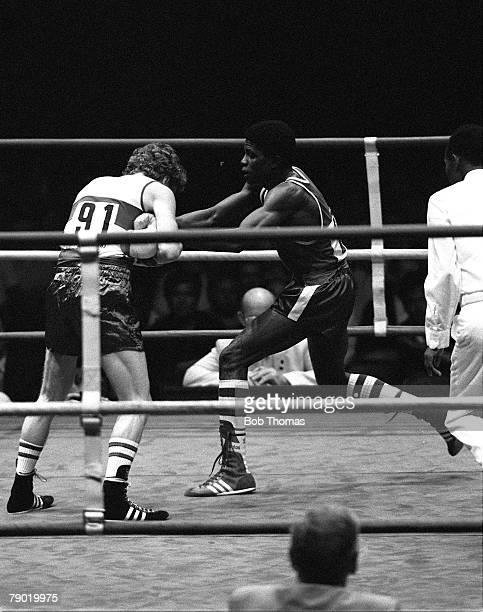 Commonwealth Games Boxing Brisbane Australia Bantamweight Final Northern Ireland's Roy Webb fights Nigeria's Joe Orewa Orewa went on to win the Gold...