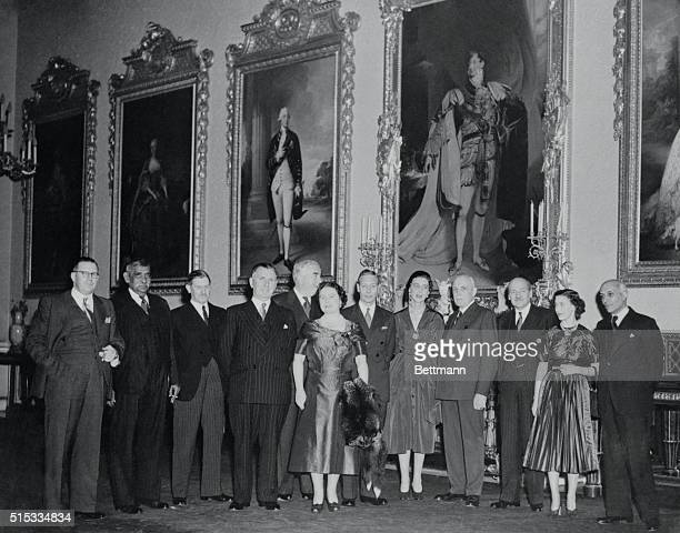 Commonwealth Luncheon London England Premiers of British commonwealths attend a luncheon tendered for them by King George and Queen Elizabeth at...