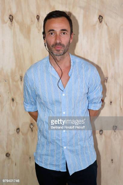 Communication director of Acne Studios Edouard Schneider attends the Acne Studio Menswear Spring/Summer 2019 show as part of Paris Fashion Week on...