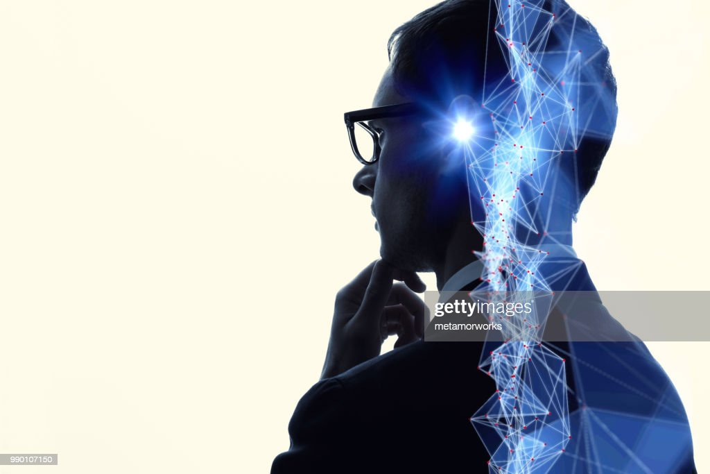 Communication network concept. AI(Artificial Intelligence). : Stock Photo