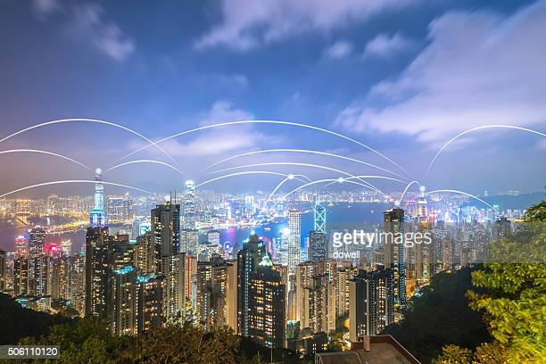 communication of wireless radio wave over modern city