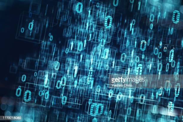 communication speed - codice binario foto e immagini stock