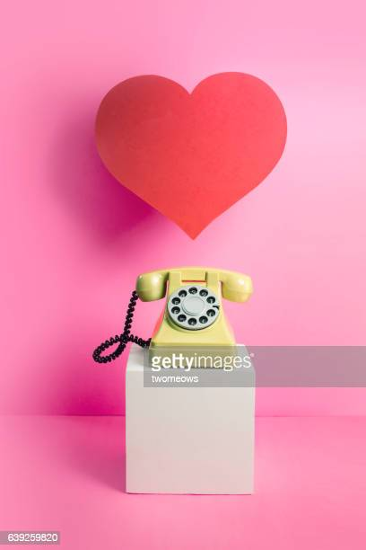 communication themed valentine's day image. - nature morte photos et images de collection