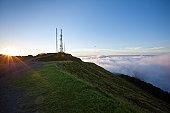 Communication Tower at Sunrise