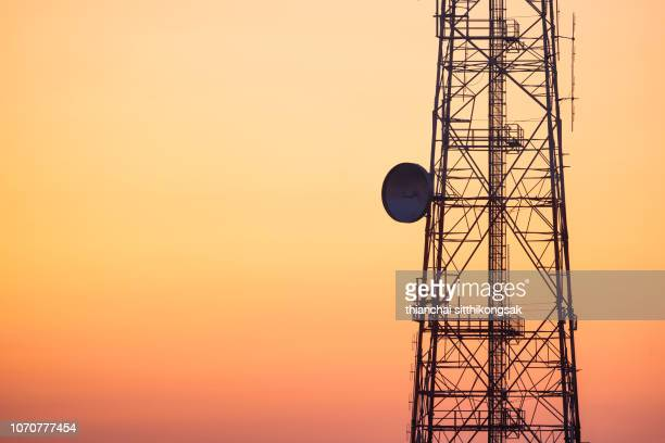 communication tower - telecommunications equipment stock pictures, royalty-free photos & images