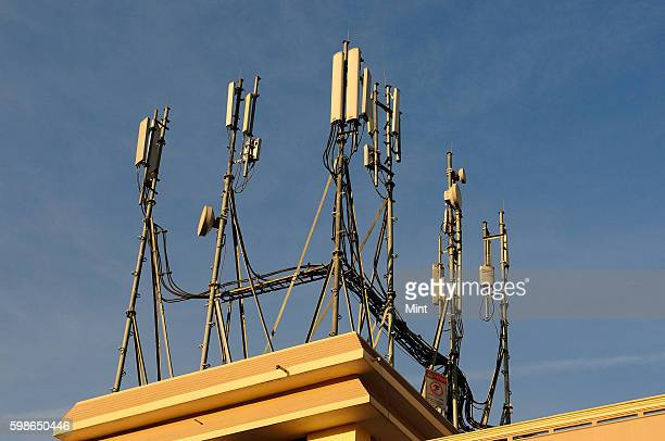Communication towers on December 19 2012 in Hyderabad India