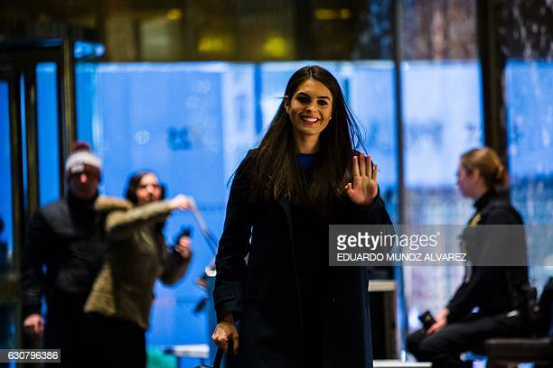 Communications Director Hope Hicks arrives at Trump Tower for meetings with Presidentelect Donald Trump on January 2 2017 in New York / AFP / Eduardo...