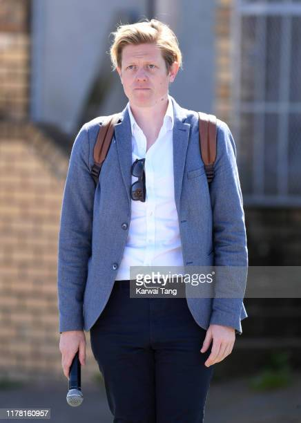 Communications officer James Holt during Prince Harry Duke of Sussex and Meghan Duchess of Sussex visit of the Nyanga Township on September 23 2019...