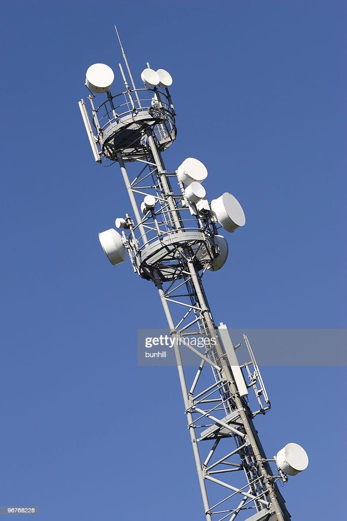 Communications Tower Tv Radio Cell Antenna Stock Photo