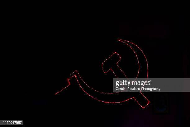 communism in kerala - bandiera comunista foto e immagini stock