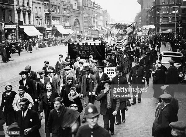 Communist Demonstrators At The Labour Day In London On May 1St 1933