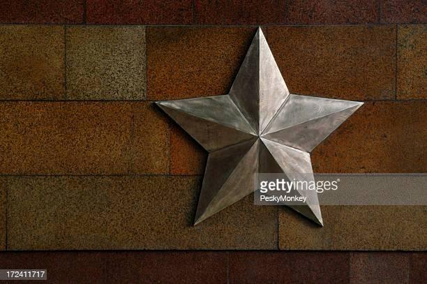 Communist Metallic Star Stone Wall
