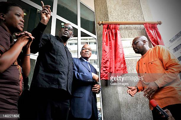 SA Communist Party General Secretary Blade Nzimande COSATU General Secretary Zwelinzima Vavi South African President Jacob Zuma and President of...