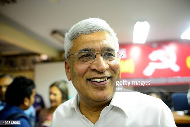 Communist Party of IndiaMarxist or CPM general secretary Prakash Karat after released manifesto for the 2014 Lok Sabha elections at the party...