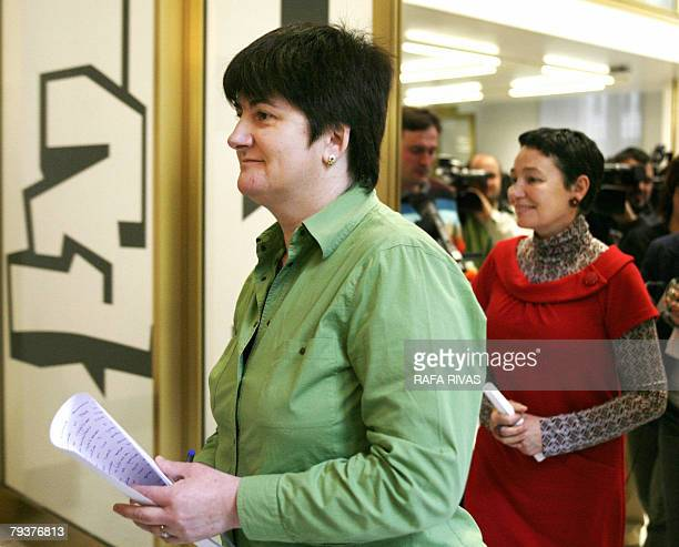 Communist Party of the Basque Lands EHAKPCTV political party parlamentarian Nekane Erauskin is followed by lawyer and former proindependence banned...