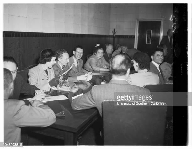 Communist trial 1 February 1952 Frank E SpectorDorothy Rosenblum HealeyPhilip M ConnellyBen DobbsMary Bernadette DoyleErnest Otto FoxRose Chernin...