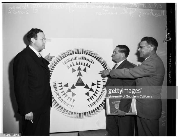 Communist trial 29 February 1952 Assistant Attorney General Laurence BaileyAssistant United States Attorney Norman N NeukomJohn Lautner Diagram of...