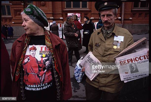 Communists Standing Outside Party Headquarters